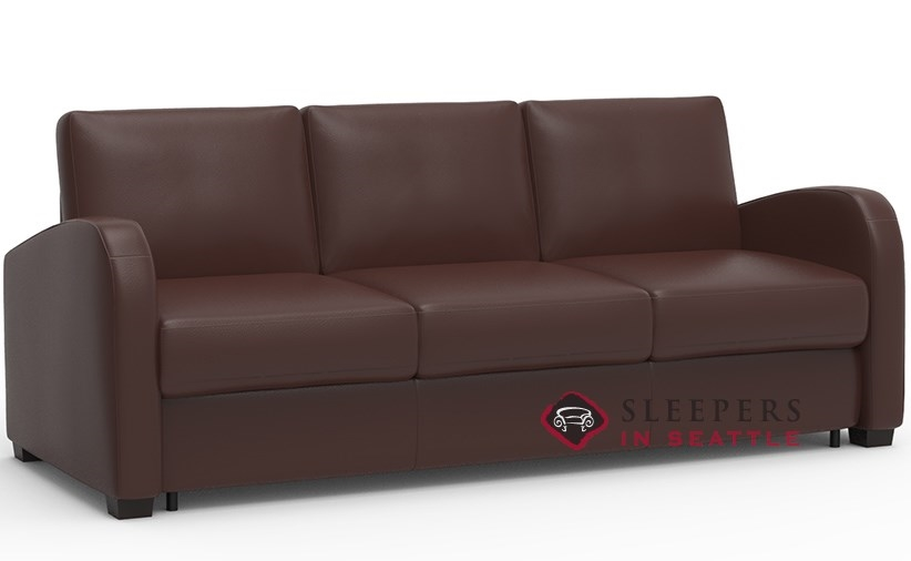 Palliser My Comfort Daydream 3 Cushion Leather Sleeper Sofa Queen