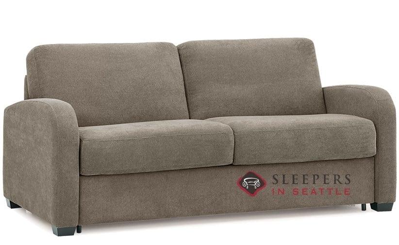 Palliser My Comfort Daydream 2 Cushion Sleeper Sofa In Hush Mushroom Queen