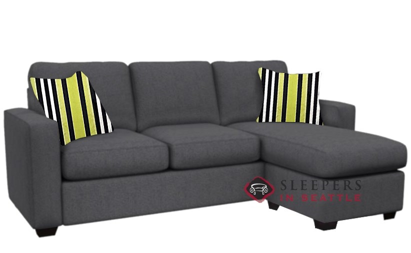 Incroyable Stanton 702 Chaise Sectional Sleeper Sofa In Legacy Eclipse (Queen)