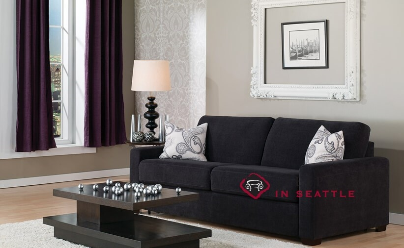... Palliser Roommate My Comfort Sleeper Sofa (Queen) In Heavenly Caviar In  Room ...