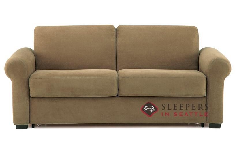 Merveilleux Palliser Sleepover My Comfort Sleeper Sofa (Full) In Echosuede Cappuccino