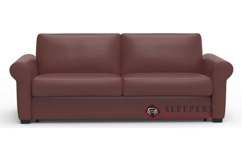 Palliser Sleepover My Comfort 2 Cushion Leather Sleeper Sofa (Queen)