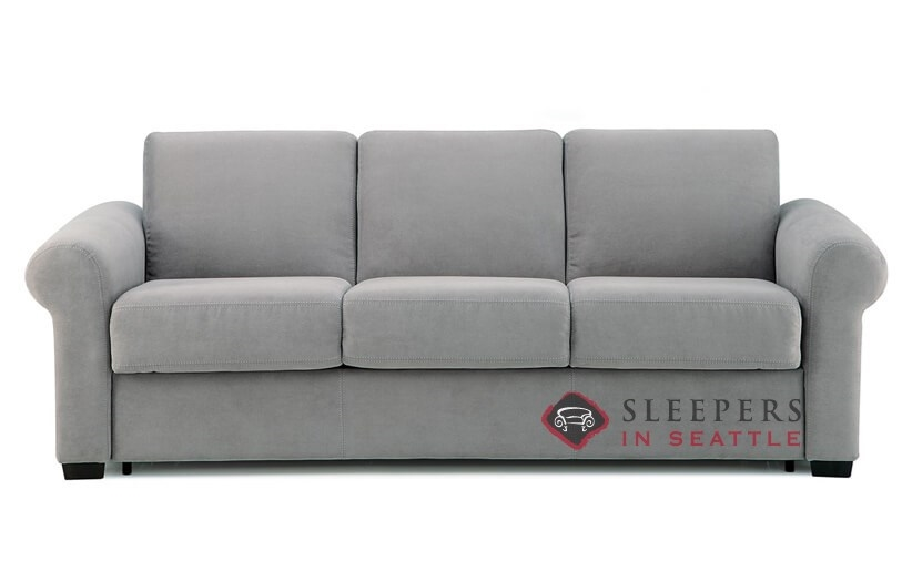Palliser My Comfort Sleepover 3 Cushion Sleeper Sofa (Queen) In Echosuede  Charcoal