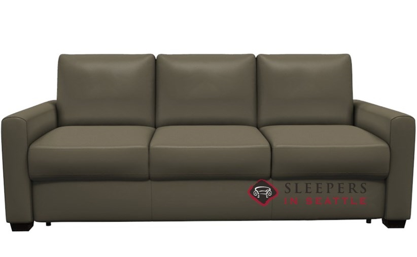 Palliser Roommate My Comfort 3 Seat Leather Sleeper Sofa Queen