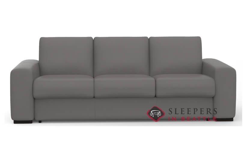Merveilleux Palliser Weekender My Comfort 3 Cushion Leather Sleeper Sofa (Queen)