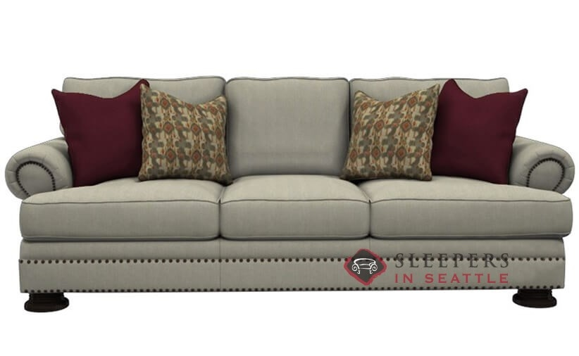 Bernhardt Foster Sleeper Sofa With Down Blend Cushions Queen