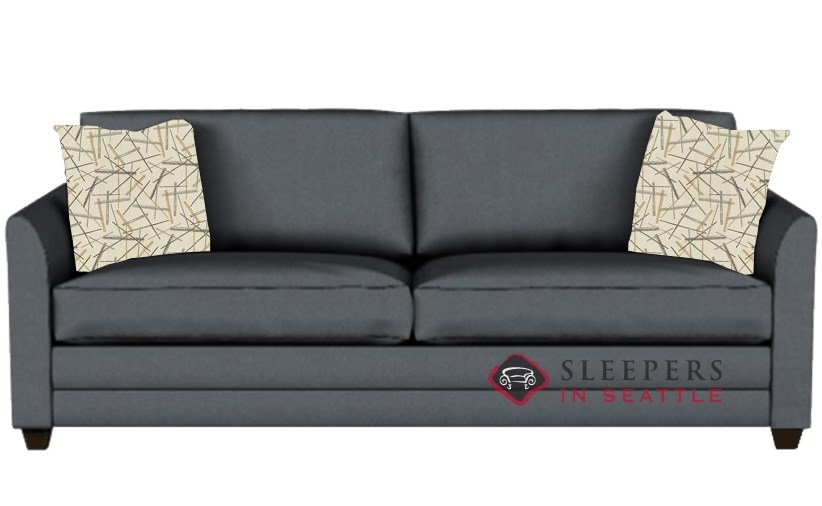 Savvy Valencia Sleeper In Microsuede Charcoal Queen