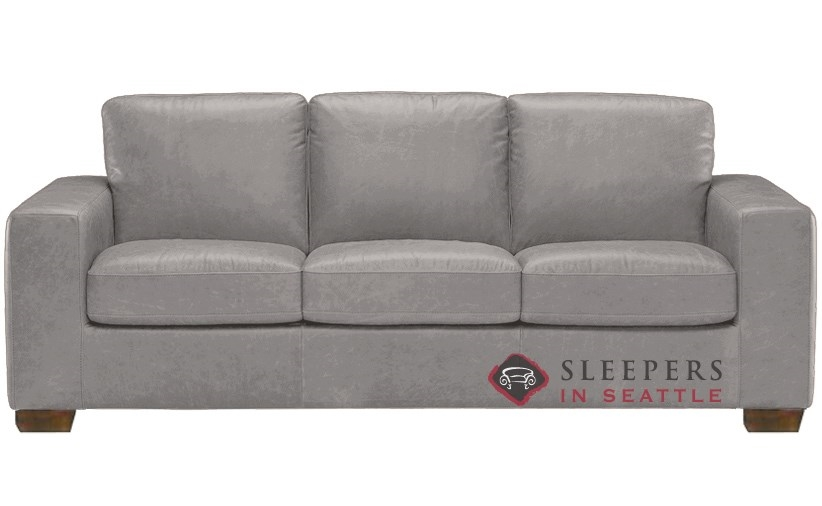 Merveilleux Natuzzi B534 Sleeper In Denver Medium Grey (Queen)