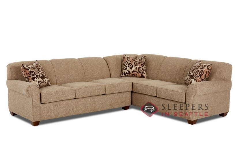 Customize and Personalize Calgary True Sectional Fabric Sofa by