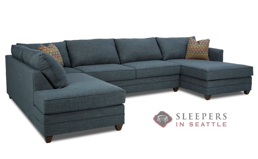 Customize and Personalize Valencia Chaise Sectional Fabric Sofa by