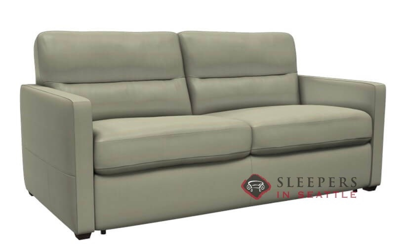 Natuzzi Editions Conca Leather Sleeper Sofa Full C010 529