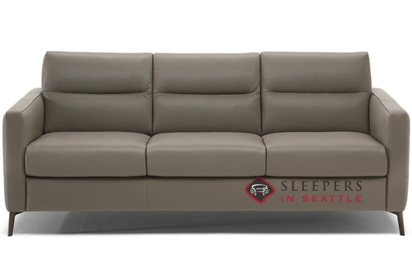 Personalize Caffaro Queen Leather Sofa