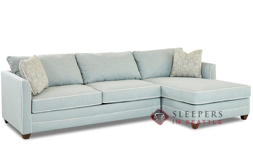Savvy Valencia Compact Chaise Sectional Queen Sleeper Sofa With Storage Option