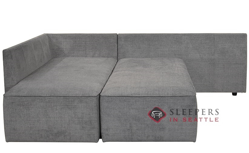 Luonto New York Raf Chaise Sectional Sleeper Sofa With Storage Queen Closed View