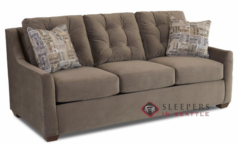Customize and Personalize Green Bay Queen Fabric Sofa by Savvy