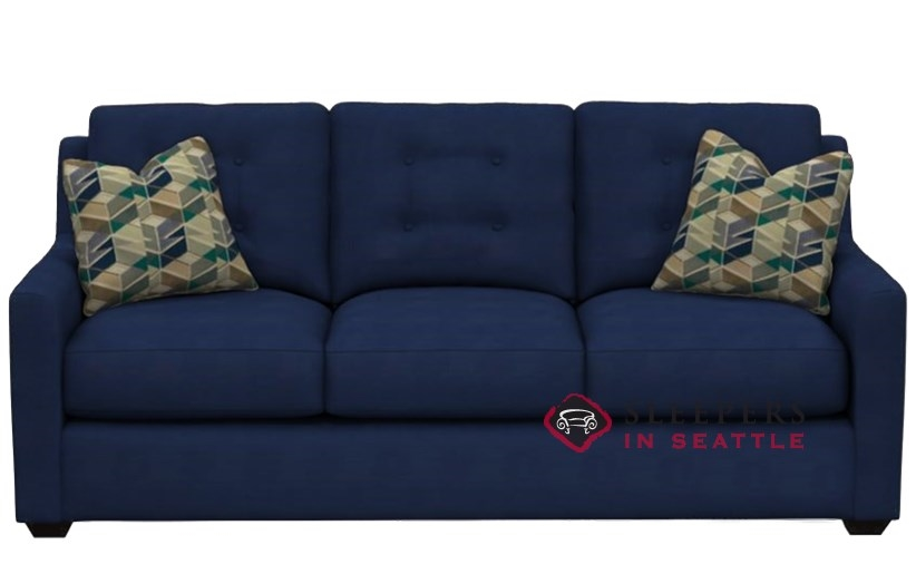 Quick-Ship Green Bay Queen Fabric Sofa by Savvy | Fast Shipping ...