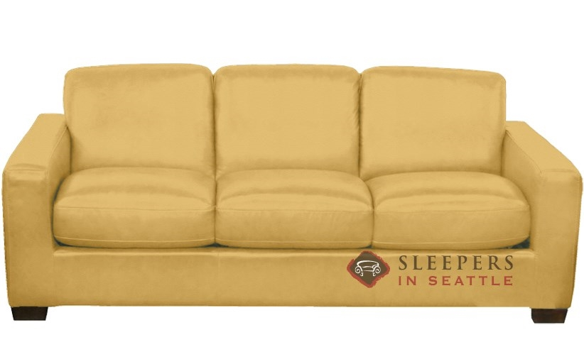 Captivating Natuzzi B534 Sleeper In Le Mans Mustard Yellow (Queen)