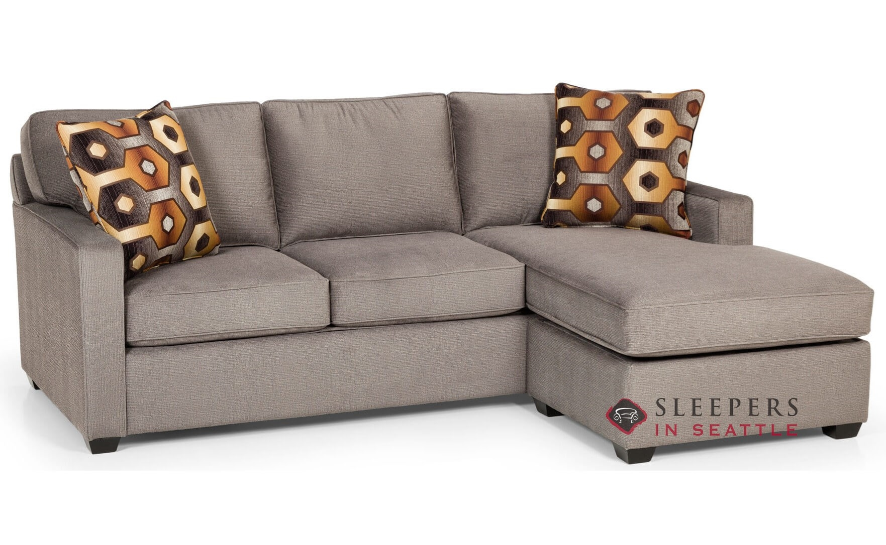 Customize and Personalize 403 Chaise Sectional Fabric Sofa by