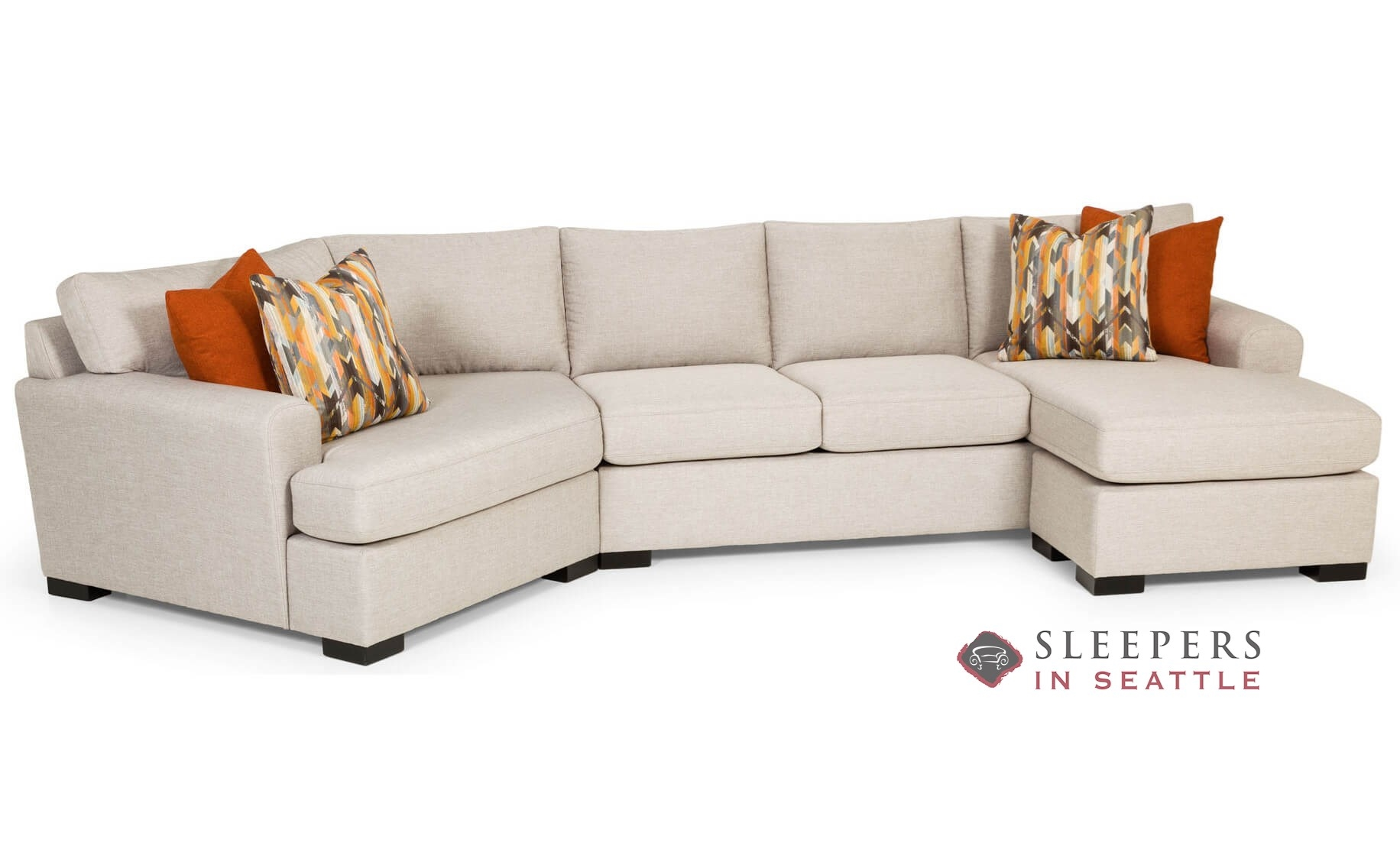the stanton 390 curved sectional queen sleeper sofa