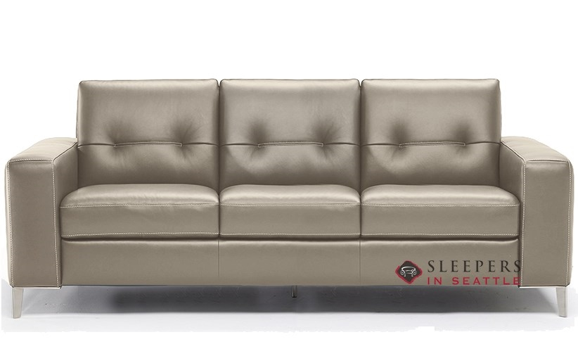 Awesome Natuzzi Po (B883 266) Leather Sleeper Sofa With Greenplus Foam Mattress In  Le