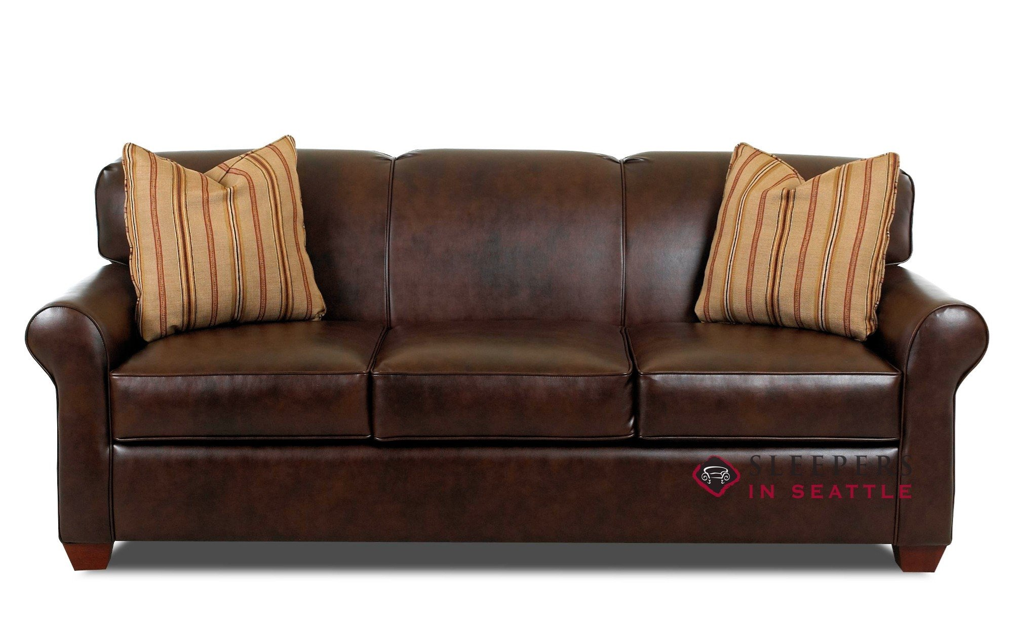 Customize and personalize calgary queen leather sofa by for Sofa queen bed