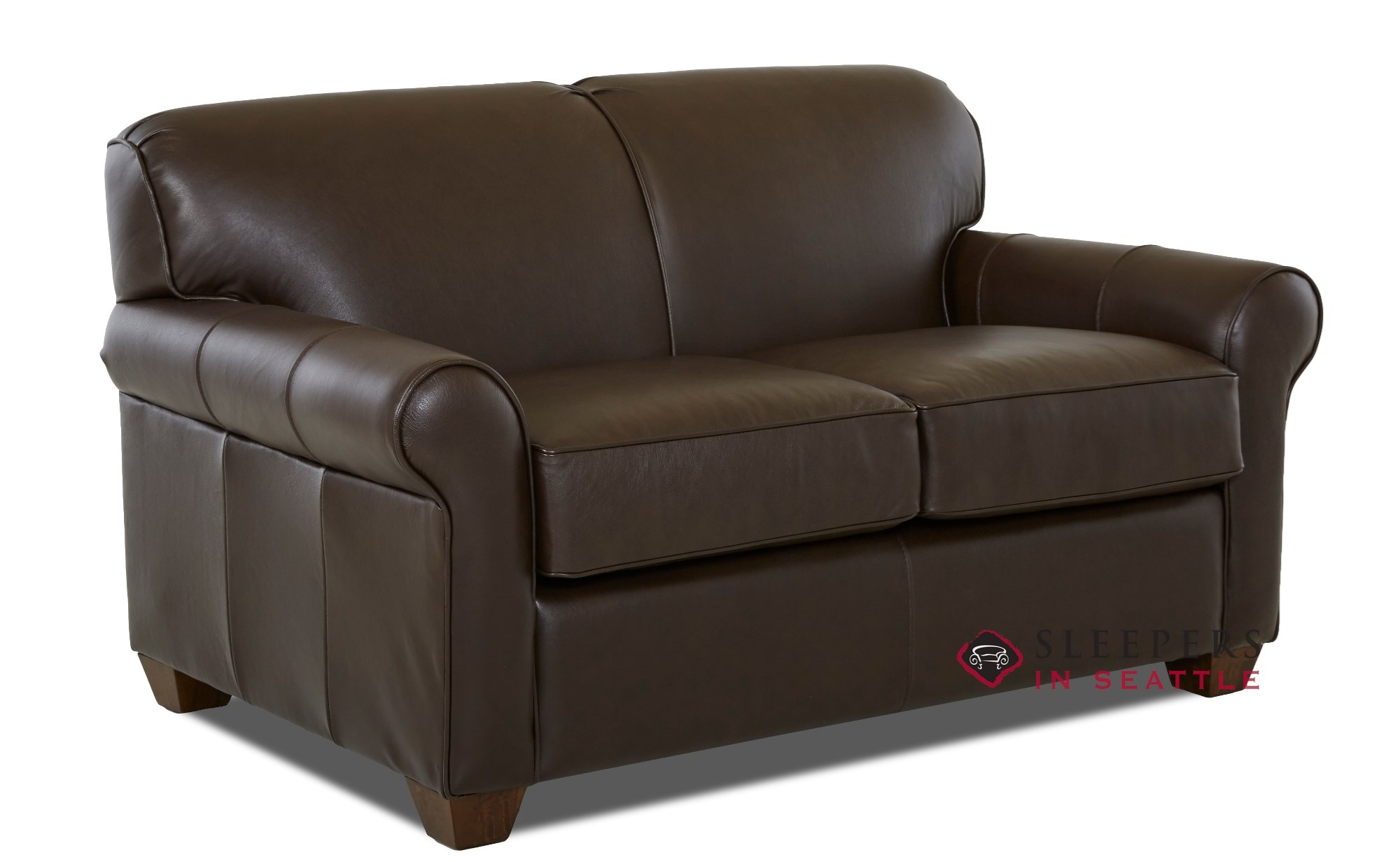 Customize And Personalize Calgary Twin Leather Sofa By Savvy  ~ Leather Twin Sofa Sleeper