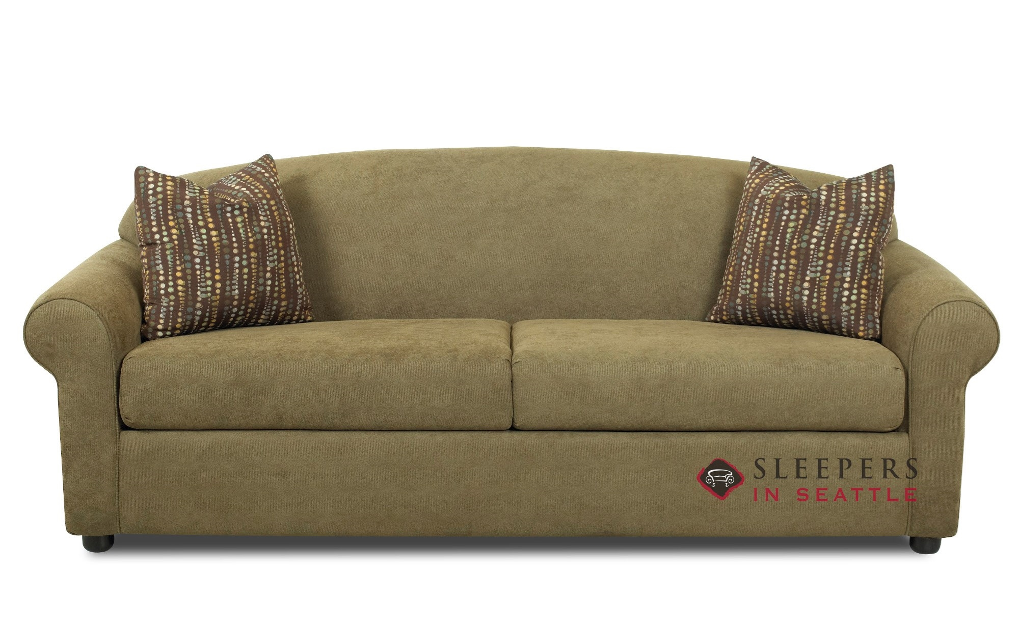 Customize And Personalize Chicago Queen Fabric Sofa By Savvy  ~ Queen Sleeper Sofa Dimensions When Open