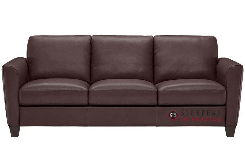 Natuzzi B592 Leather Sleeper In Phoenix Brown Queen