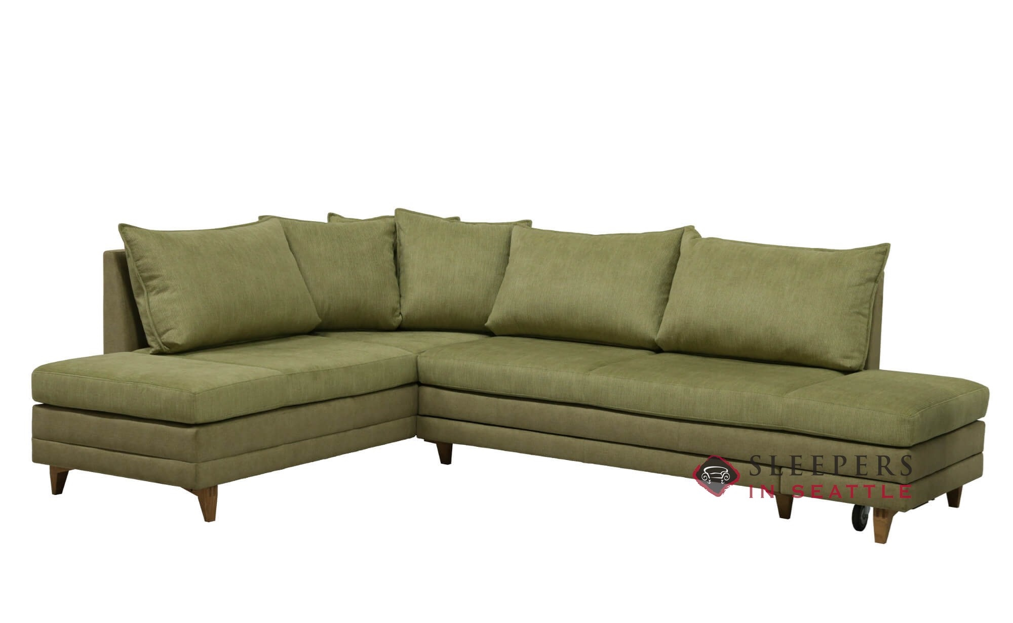 Customize And Personalize Curry Chaise Sectional Fabric Sofa By