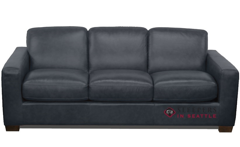 Natuzzi Editions Rubicon B534 Leather Queen Sleeper Sofa with ...