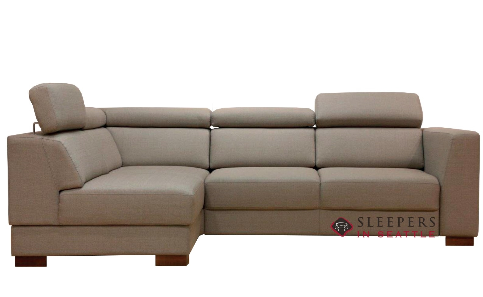 Quick-Ship Halti Chaise Sectional Fabric Sofa by Luonto | Fast Shipping  Halti Chaise Sectional Sofa Bed | SleepersInSeattle.com