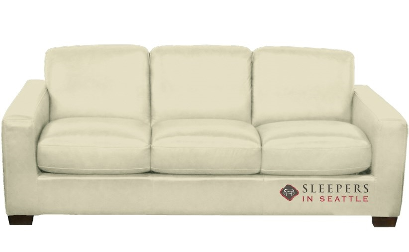 Quick-Ship Rubicon (B534) Queen Leather Sofa by Natuzzi   Fast Shipping  Rubicon (B534) Queen Sofa Bed   SleepersInSeattle.com