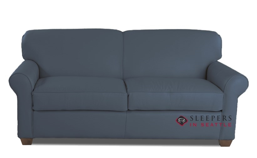 Quick-Ship Calgary Full Leather Sofa by Savvy | Fast Shipping Calgary Full  Sofa Bed | SleepersInSeattle.com