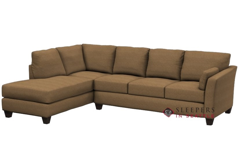 Savvy Sienna Chaise Sectional Sleeper In Quentin Stone RAF Configuration  (Queen)