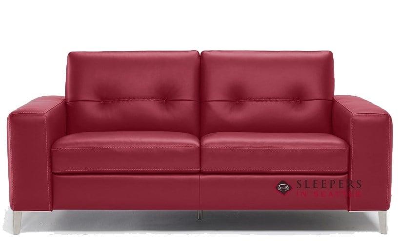 Natuzzi Editions Po B883 Leather Full Sleeper Sofa with Greenplus ...