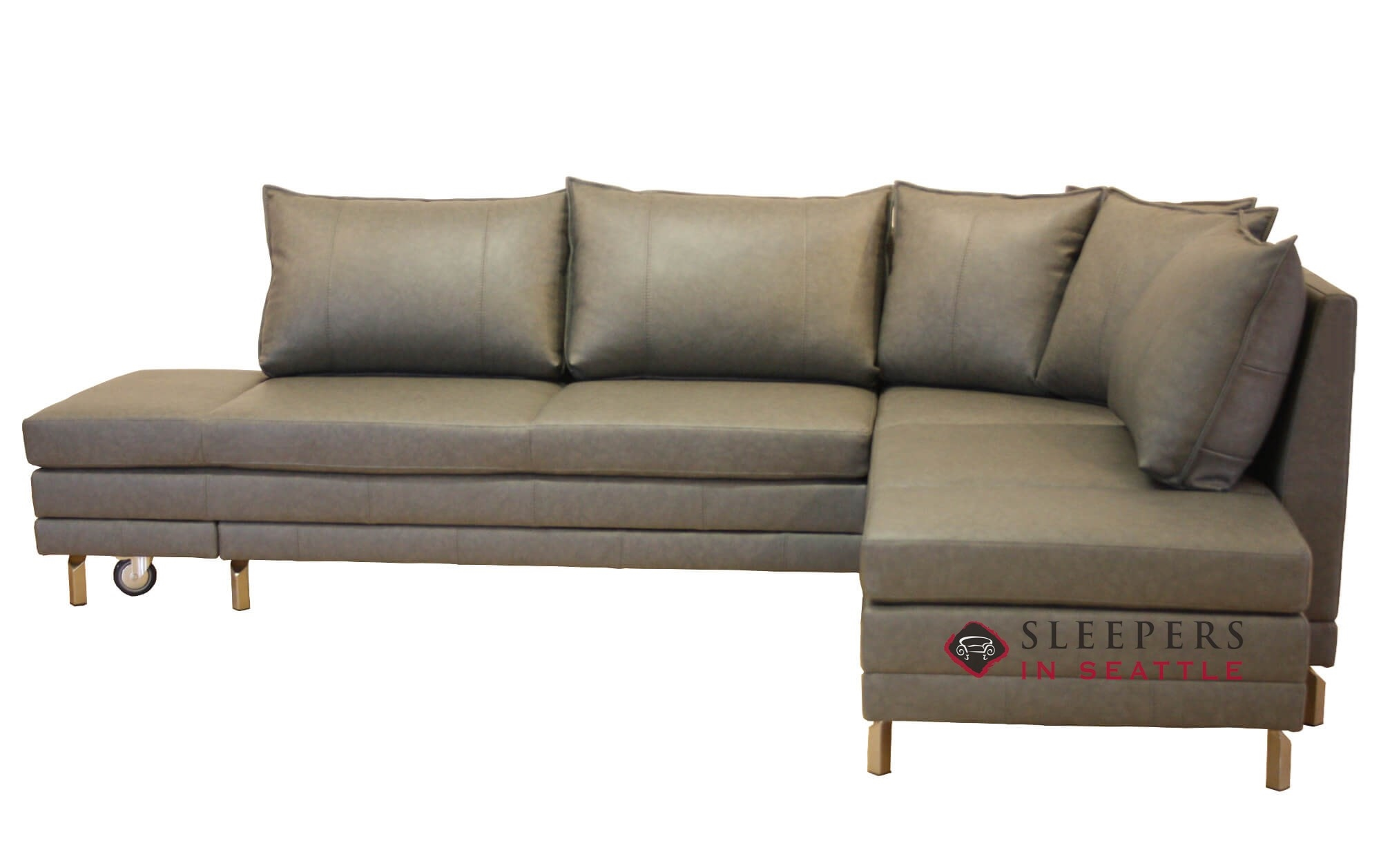 Customize And Personalize Curry Chaise Sectional Leather