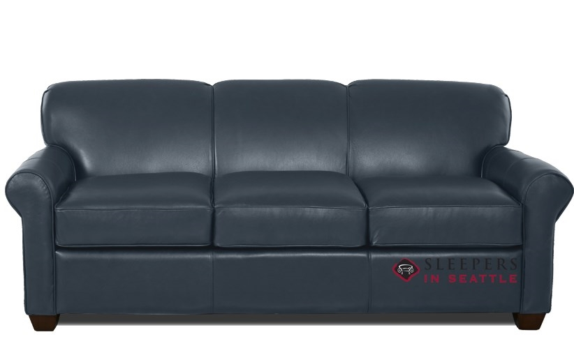 Quick-Ship Calgary Queen Leather Sofa by Savvy | Fast Shipping Calgary  Queen Sofa Bed | SleepersInSeattle.com