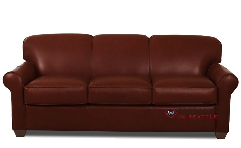 Queen Sleeper Sofa In Chesterfield Cabernet