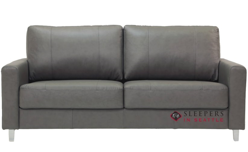 Quick Ship Nico Queen Leather Sofa By Luonto Fast Shipping Bed Sleepersinseattle