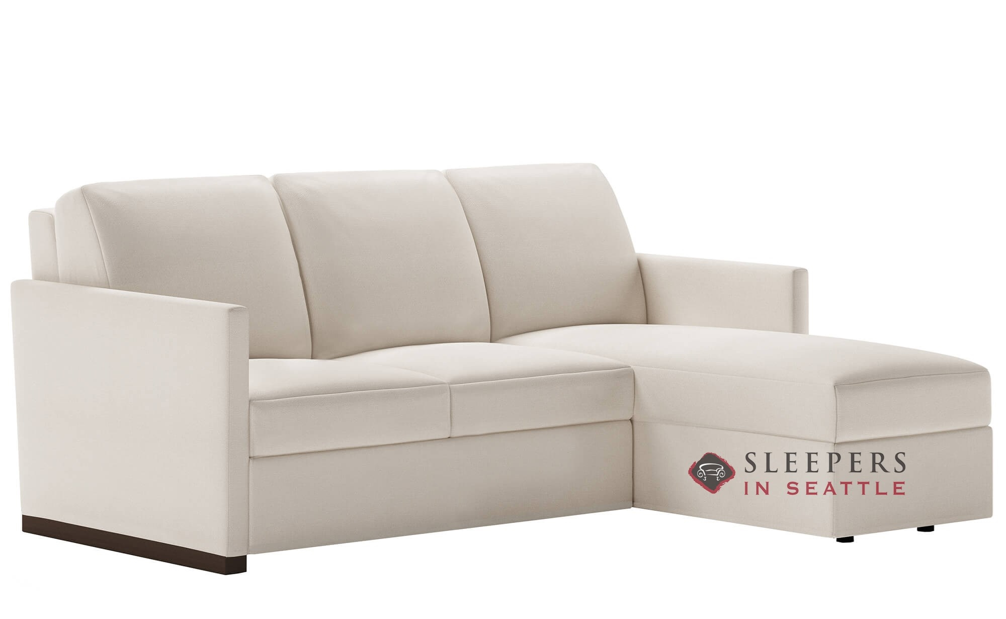 American Leather Pearson Low Leg Queen Plus With Chaise Sectional Comfort Sleeper Generation Viii