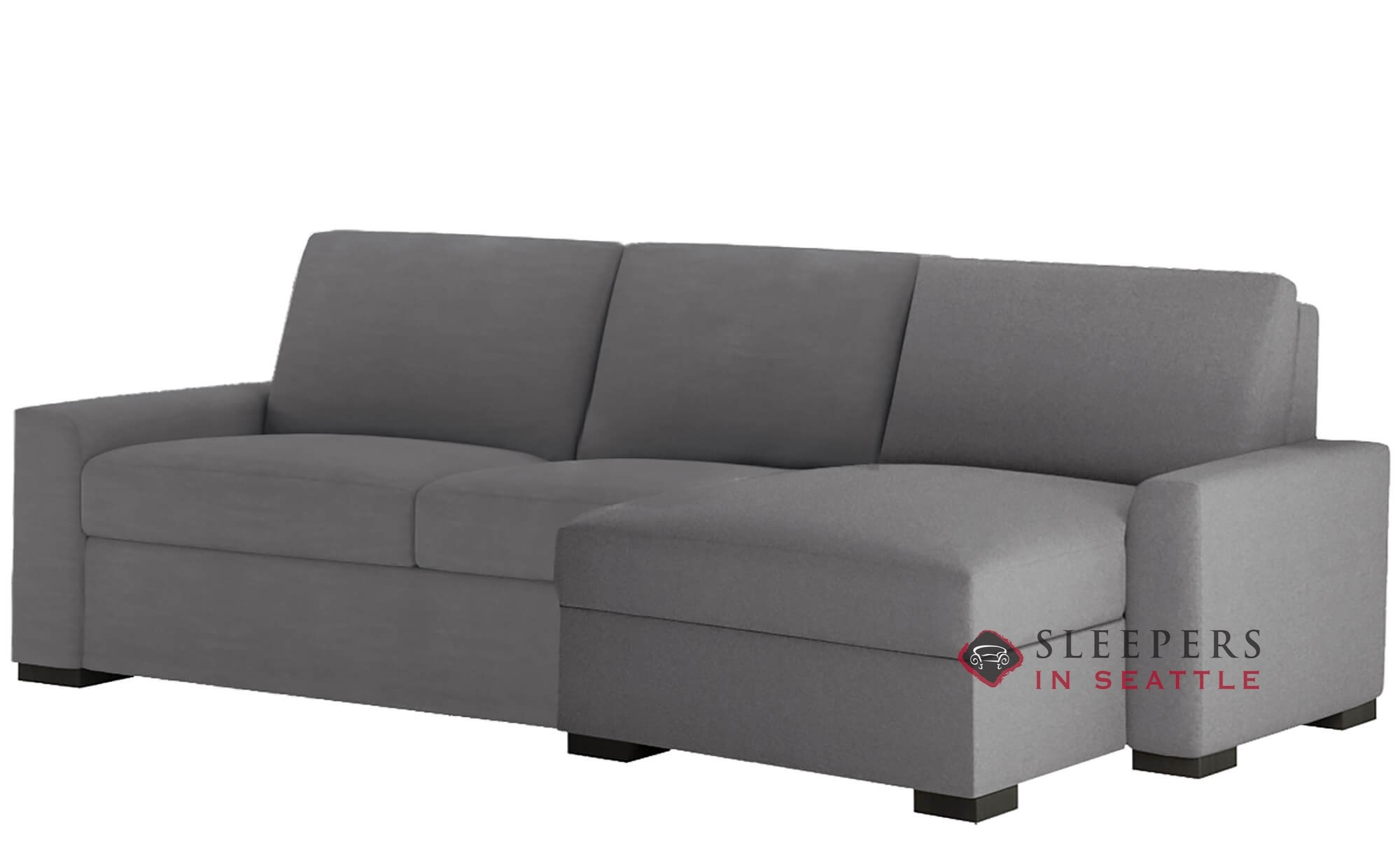 American Leather Olson Low Leg Queen Plus With Chaise Sectional Comfort Sleeper Generation Viii