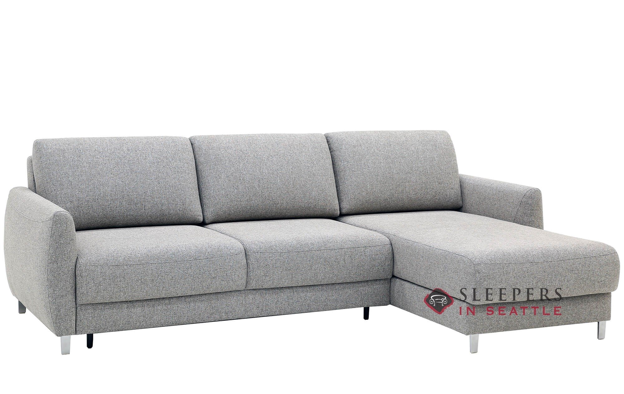 Quick-Ship Delta Chaise Sectional Fabric Sofa by Luonto | Fast Shipping  Delta Chaise Sectional Sofa Bed | SleepersInSeattle.com