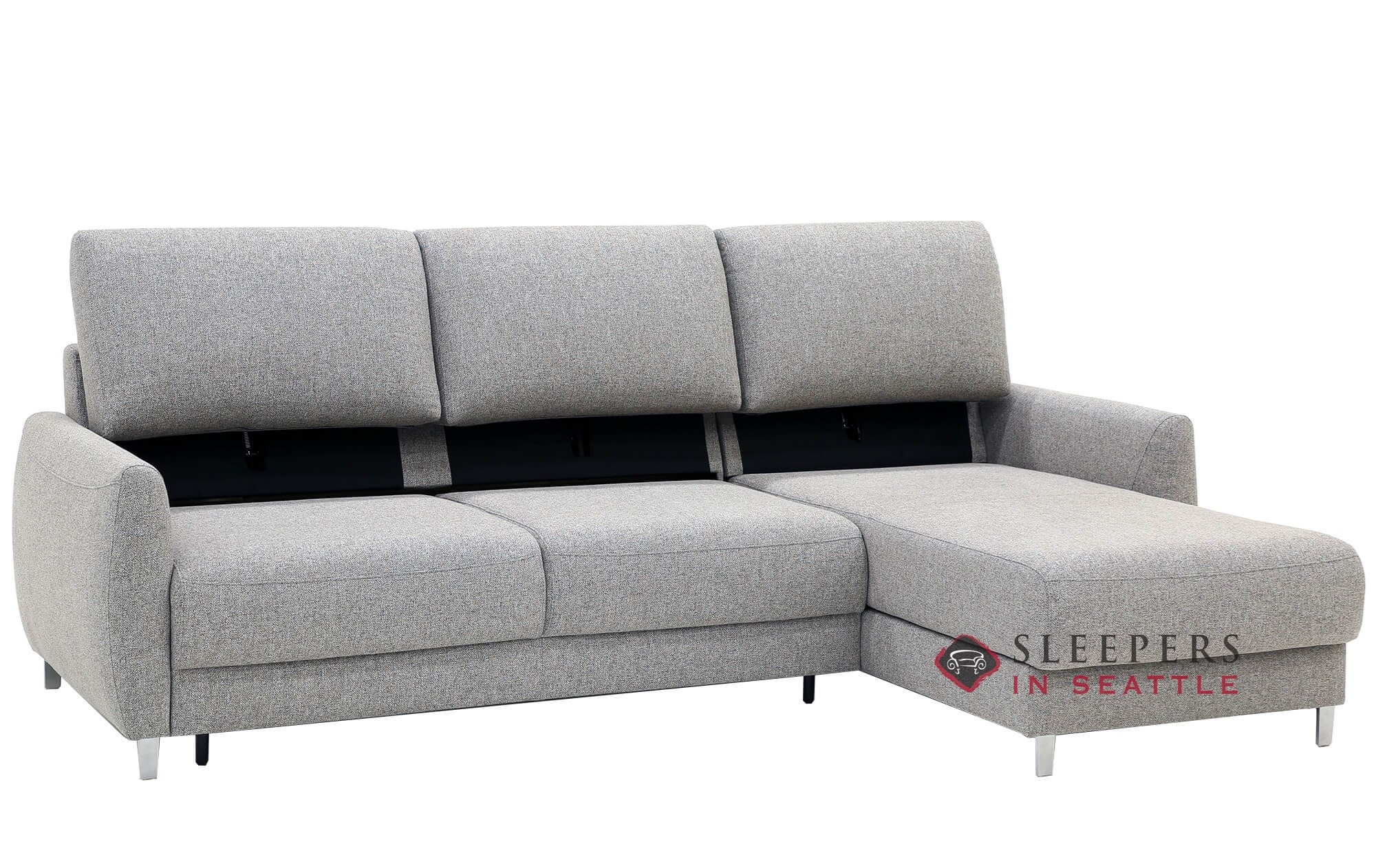 - Quick-Ship Delta Chaise Sectional Fabric Sofa By Luonto Fast