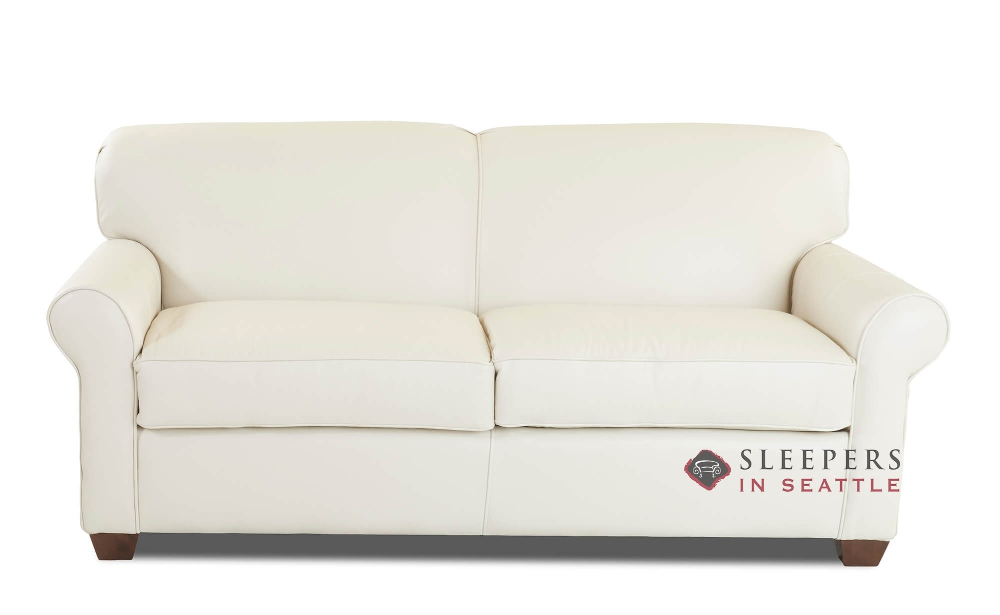 Savvy Calgary Leather Full Sleeper Sofa
