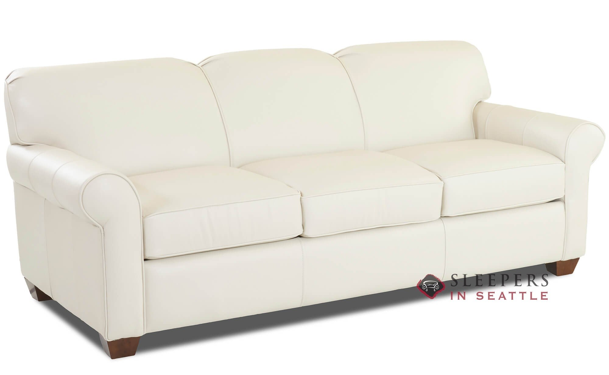 Savvy Calgary Leather Queen Sleeper Sofa
