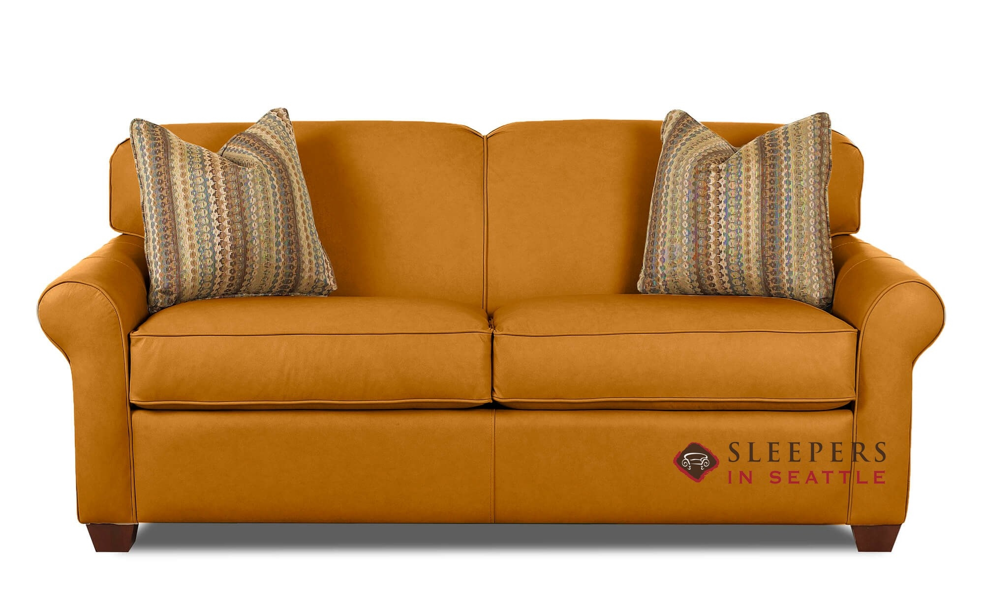Quick Ship Calgary Full Leather Sofa By