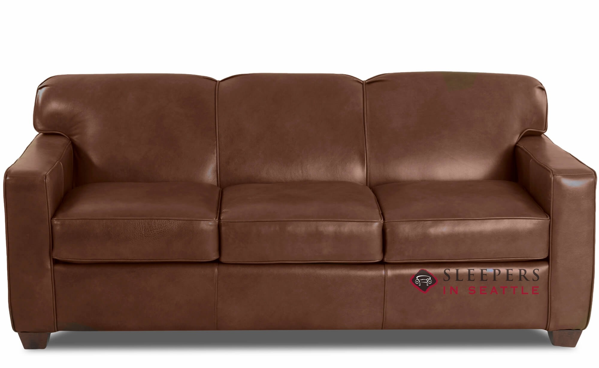 Quick Ship Geneva Queen Leather Sofa By